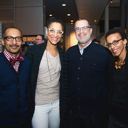 Carla Hall, second from left, was on hand for a book signing. (Credit: Paul Kim)