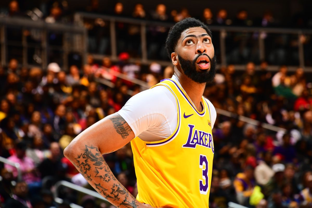 Lakers News Anthony Davis Says Ankle Is A Little Sore