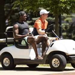 Chicago Bears' linebacker Roquan Smith #58 arrives for training camp at Olivet Nazarene University in Bourbonnais, Thursday afternoon, July 25, 2019.