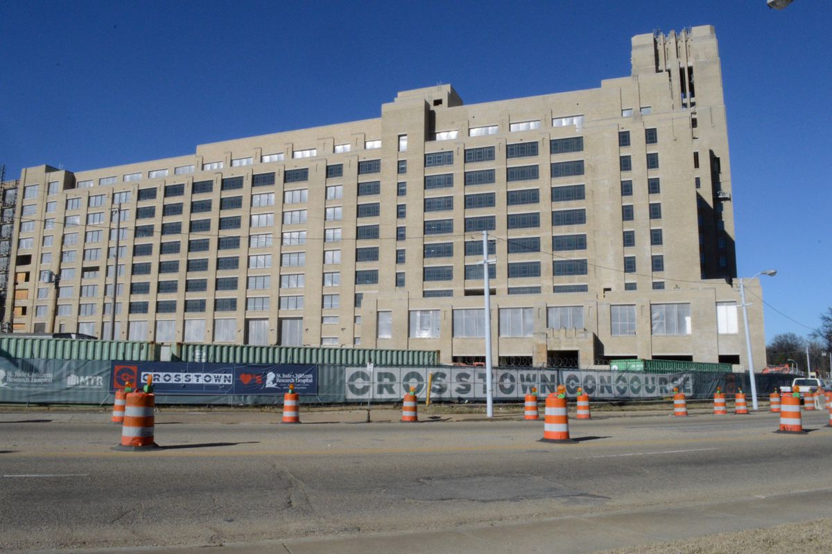 Crosstown Concourse, a building being redeveloped in midtown Memphis, is the site of a proposed selective high school.