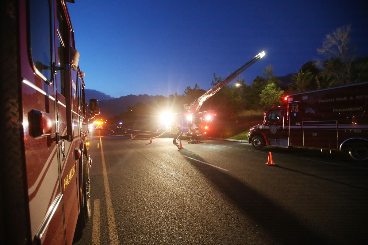 Provo Fire work on a fire at 2400 University in Provo Thursday, June 13, 2013.