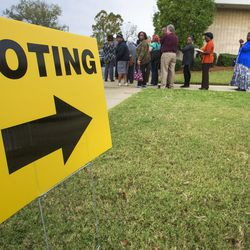 Voters line up to vote at Aldersgate United Methodist Church in Montgomery, Ala., on Nov. 8, 2016.