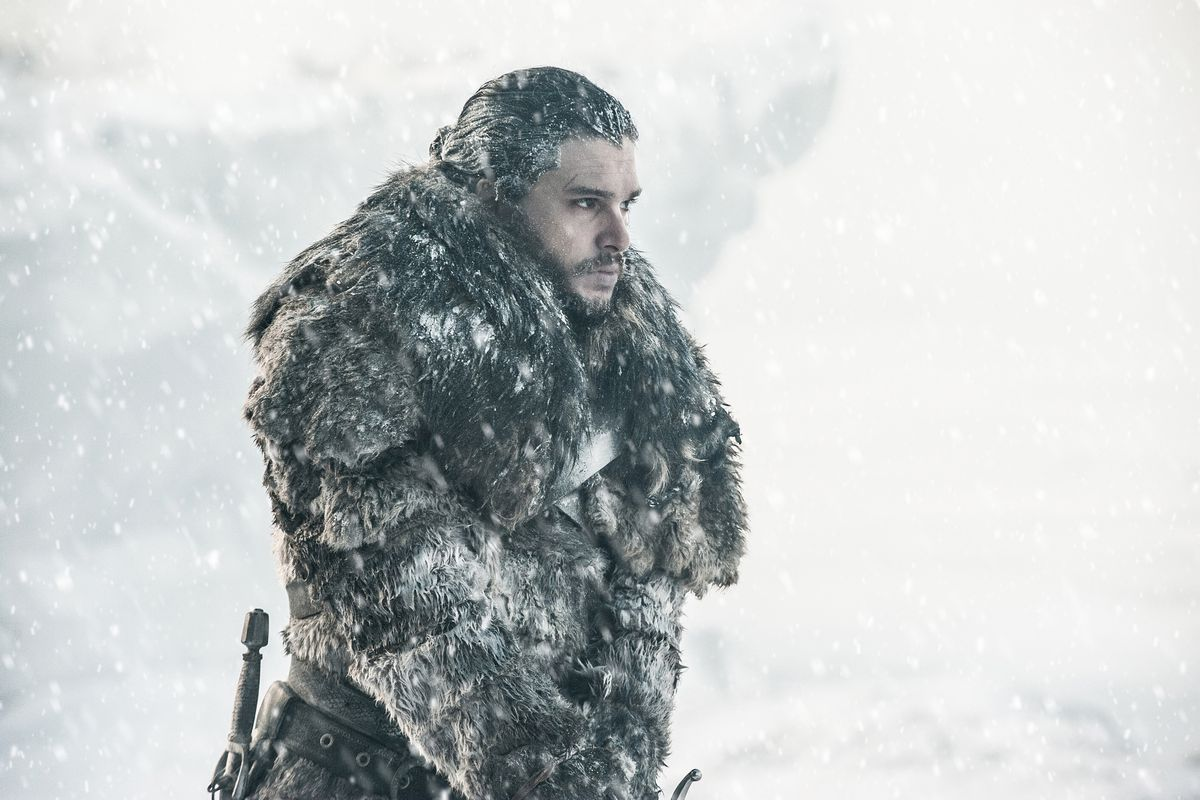 Jon Snow standing in the cold in Game of Thrones season 7 episode 6