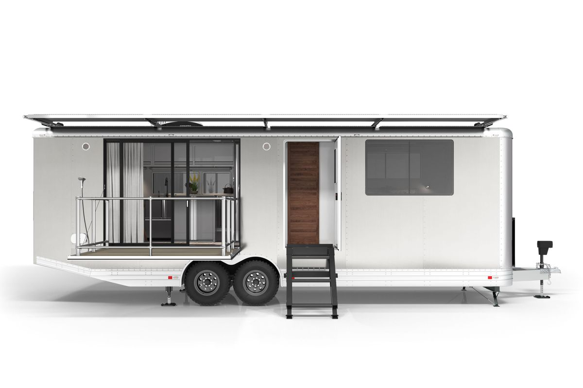 Airstream Travel Trailers >> Luxury Travel Trailer Is Like An Ultra Modern Airstream Curbed