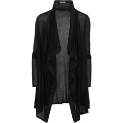 """<b>Helmut Lang</b>, <a href=""""http://www.net-a-porter.com/product/445702/Helmut_Lang/voltage-ribbed-jersey-cardigan"""">$140</a>"""