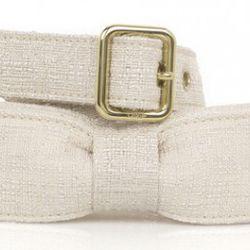 Chloe Tweed Bow Belt, $200