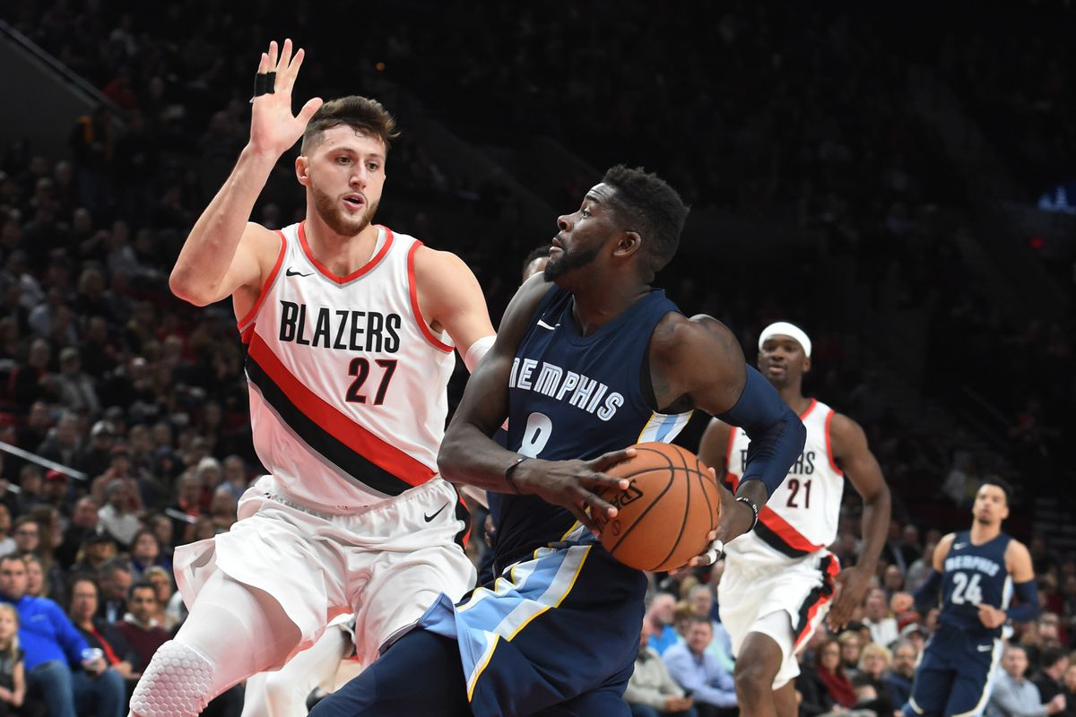 Kết quả hình ảnh cho Memphis Grizzlies vs Portland Trail Blazers