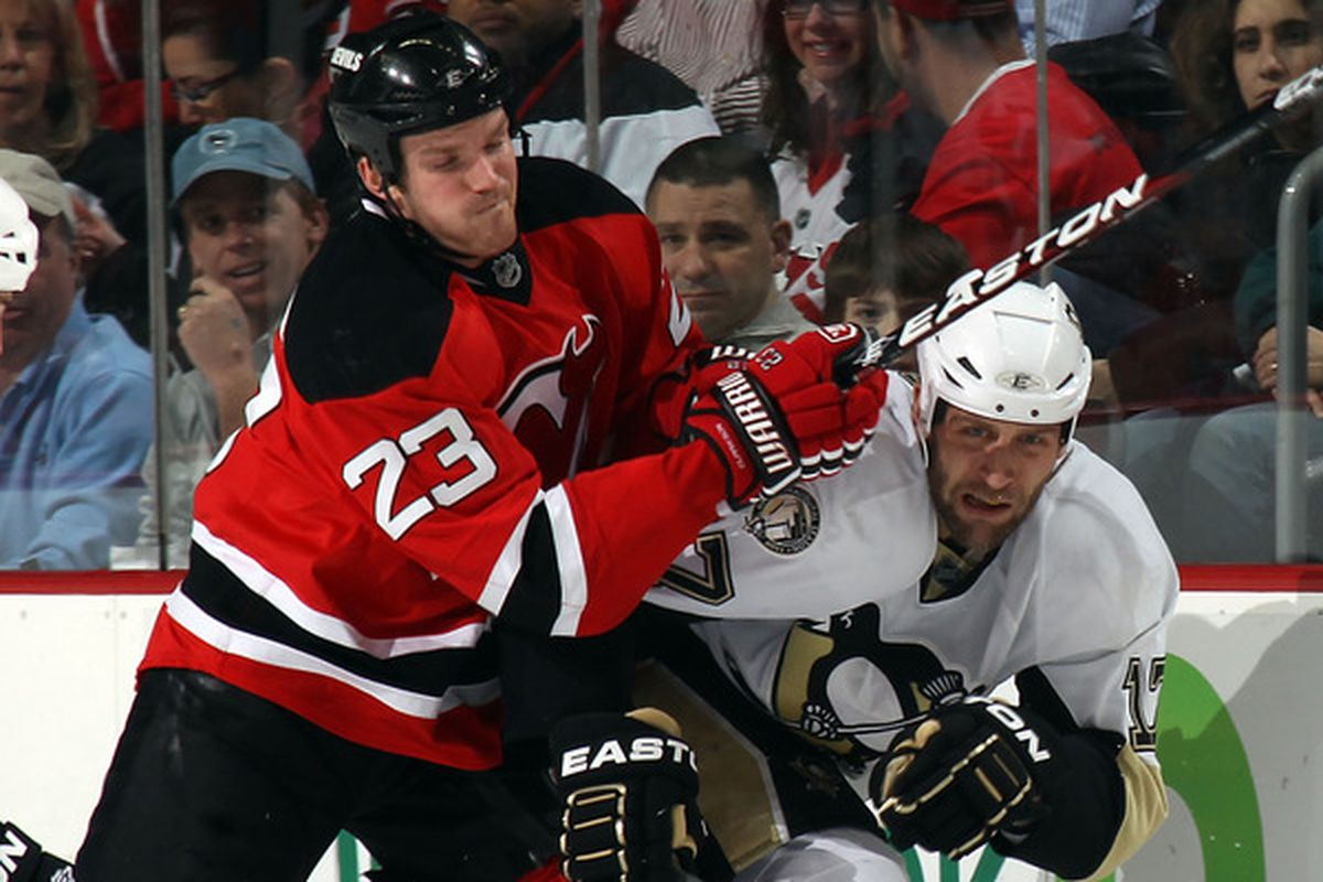Would you consider buying out David Clarkson this summer? (Photo by Bruce Bennett/Getty Images)