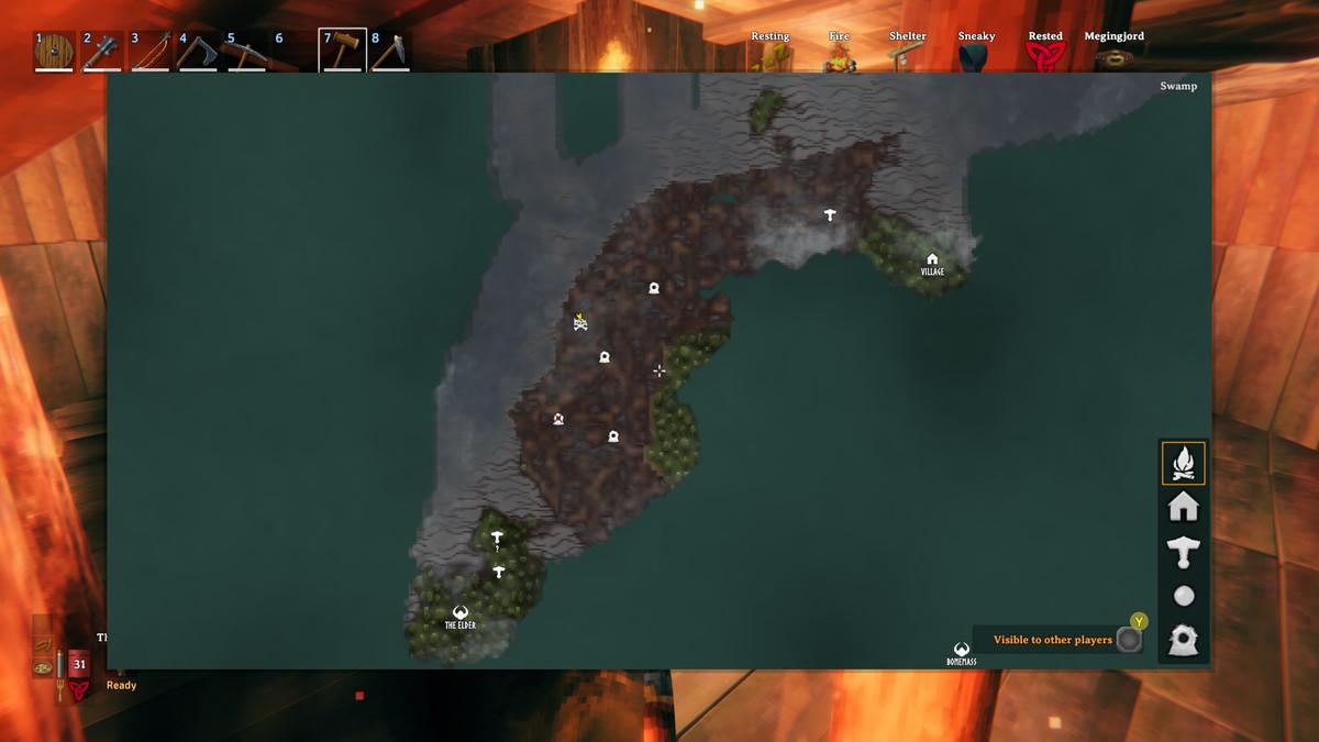 Valheim swamp biome map appearance