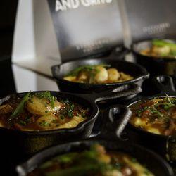 Shrimp and grits at Bacchanal Buffet.