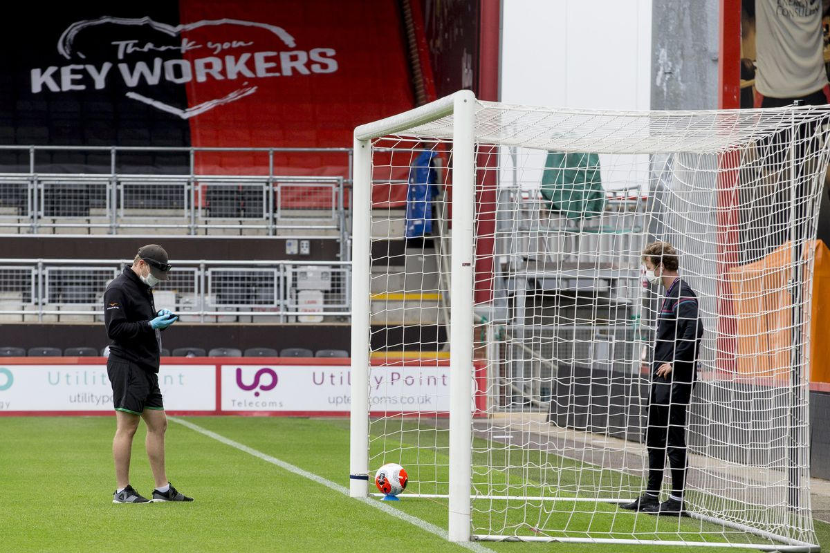 General Views of the Vitality Stadium as it Prepares for the Return to Premier League Action