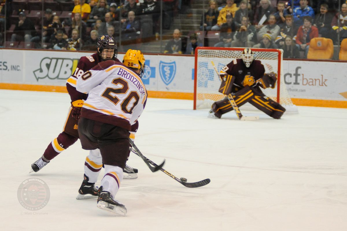 Michael Brodzinski was named the Big Ten's second star of the week