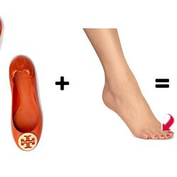 """<b>The top-of-the-toe blister:</b> Though ballet flats are a blessedly comfortable and chic alternative to heels, they can tear the hell out of your toes until you break them in. Luckily, <a href= """"http://www.cvs.com/shop/product-detail/Band-Aid-Advanced-"""
