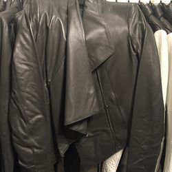 Leather jacket, size small, $499 (from $1,390)