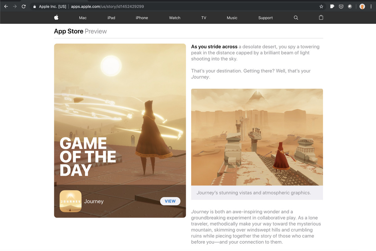 Apple S Editorial App Store Today Stories Now Work In Web Browsers The Verge