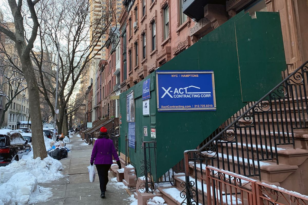 Renovation work on the Upper West Side, Feb. 8, 2021.
