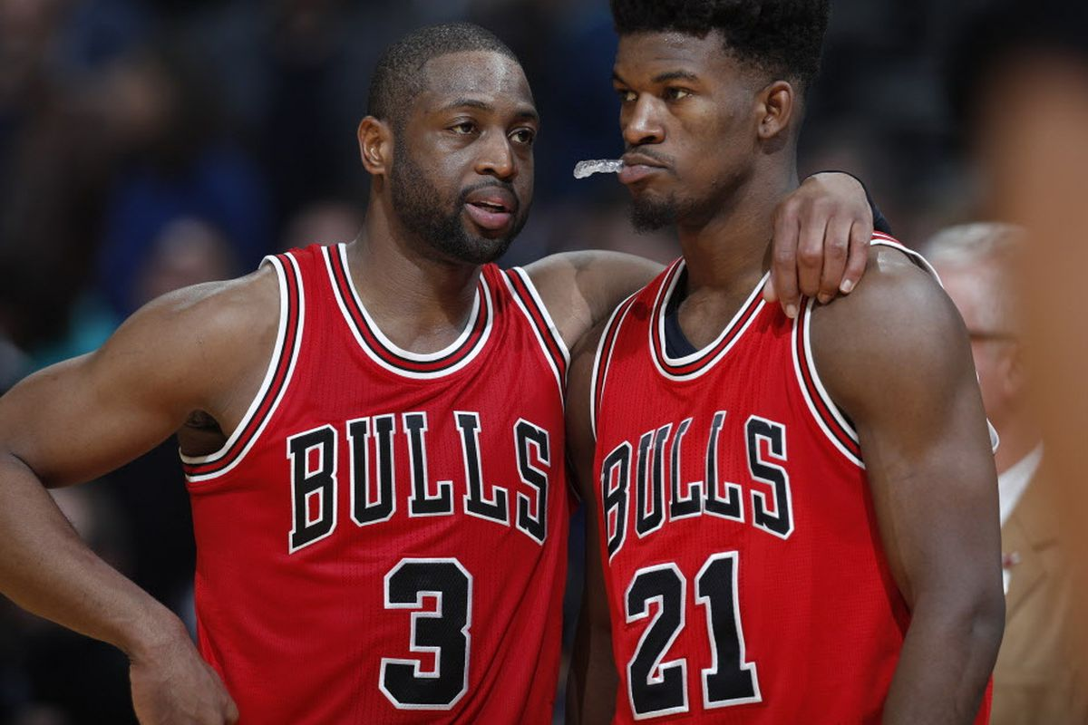 check out 6c910 3fc40 Ex-Bulls snit: Dwyane Wade threatens Jimmy Butler over ...