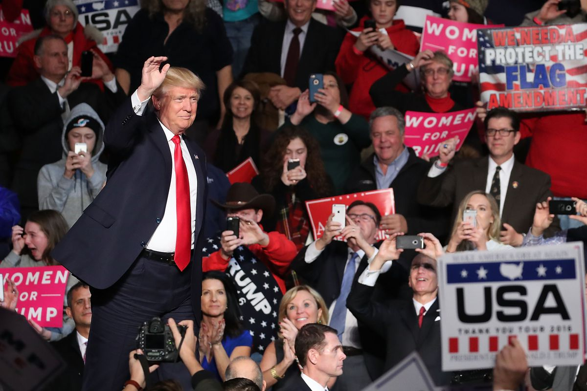 President Elect Donald Trump Holds Victory Rally In Pennsylvania