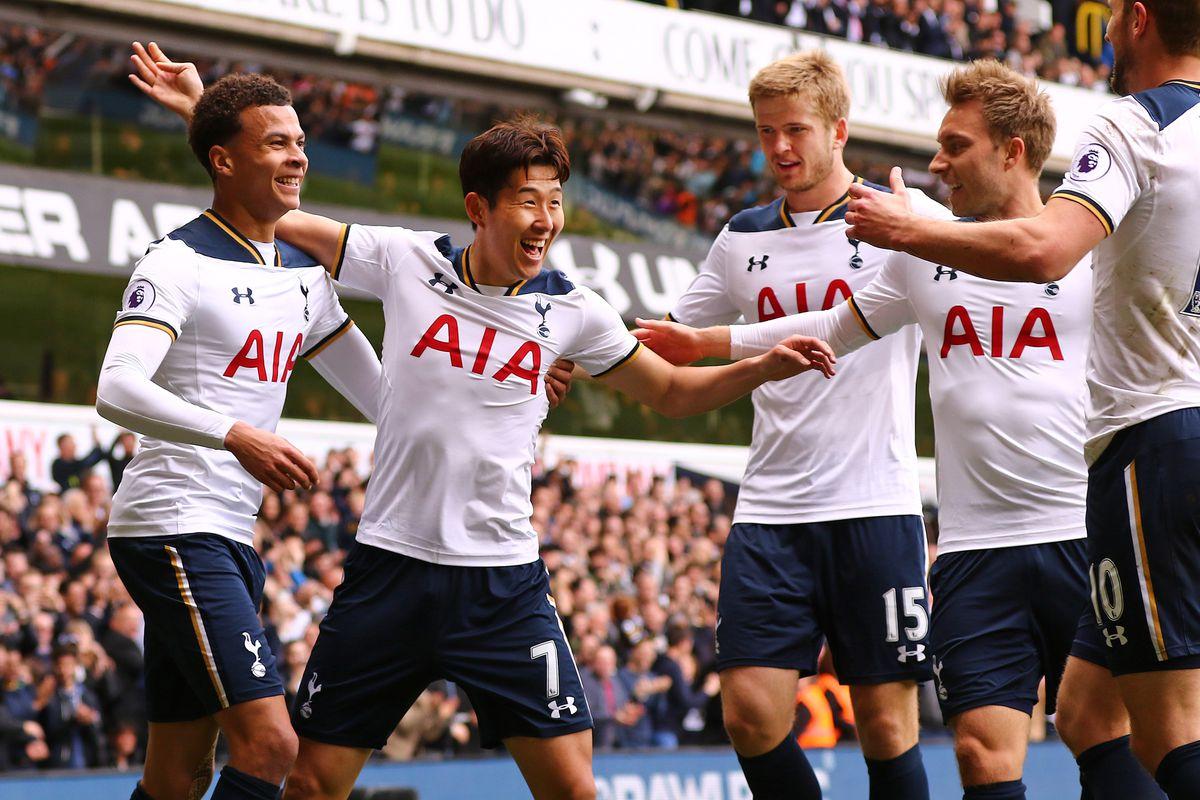 2017 Premier league football Tottenham v Bournemouth Apr 15th