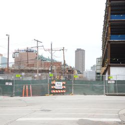 12:50 p.m. View looking east on Waveland Avenue, at Clark Street -
