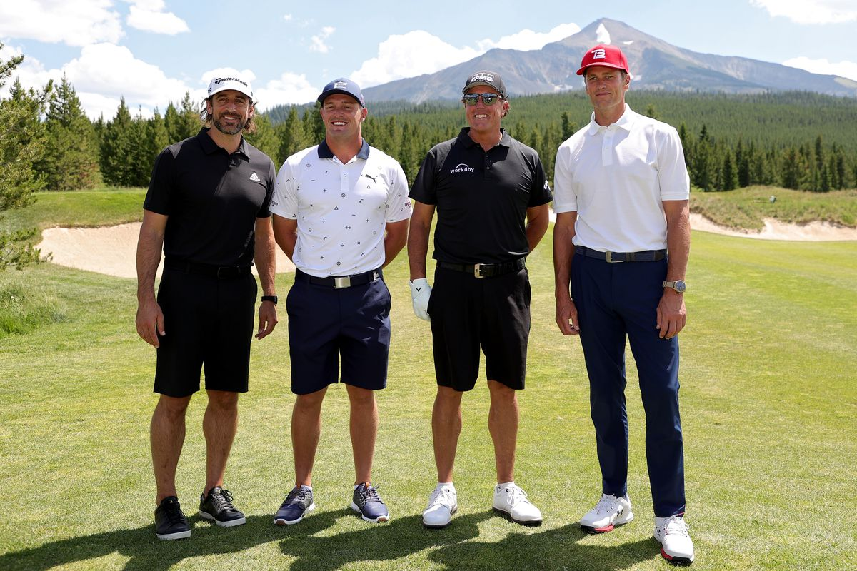 """The Match 4: Aaron Rodgers drags partner Bryson DeChambeau, """"not an  experienced trash talker"""" - DraftKings Nation"""