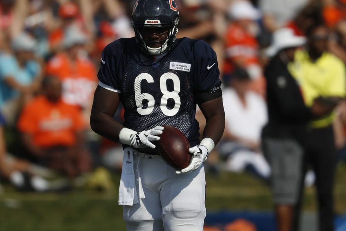 low priced f6e25 3118a With starter Eric Kush's help, Bears rookie James Daniels ...
