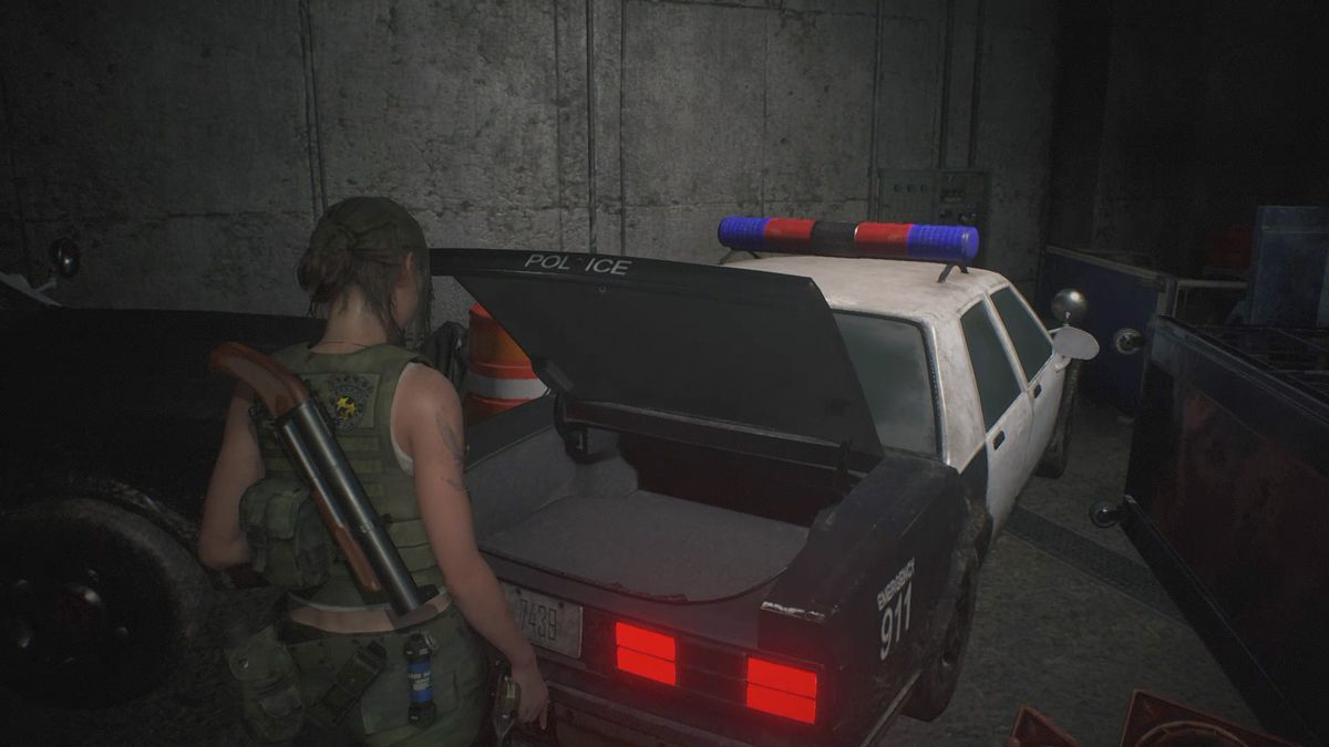 Re2 Remake Claire 2nd G Boss Fight Parking Garage Chief S Office
