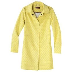 """Merona Women's Printed trench coat from Target, <a href=""""http://www.target.com/p/merona-women-s-printed-trench-coat-yellow/-/A-14910012#prodSlot=large_1_8"""">$59.99</a>"""
