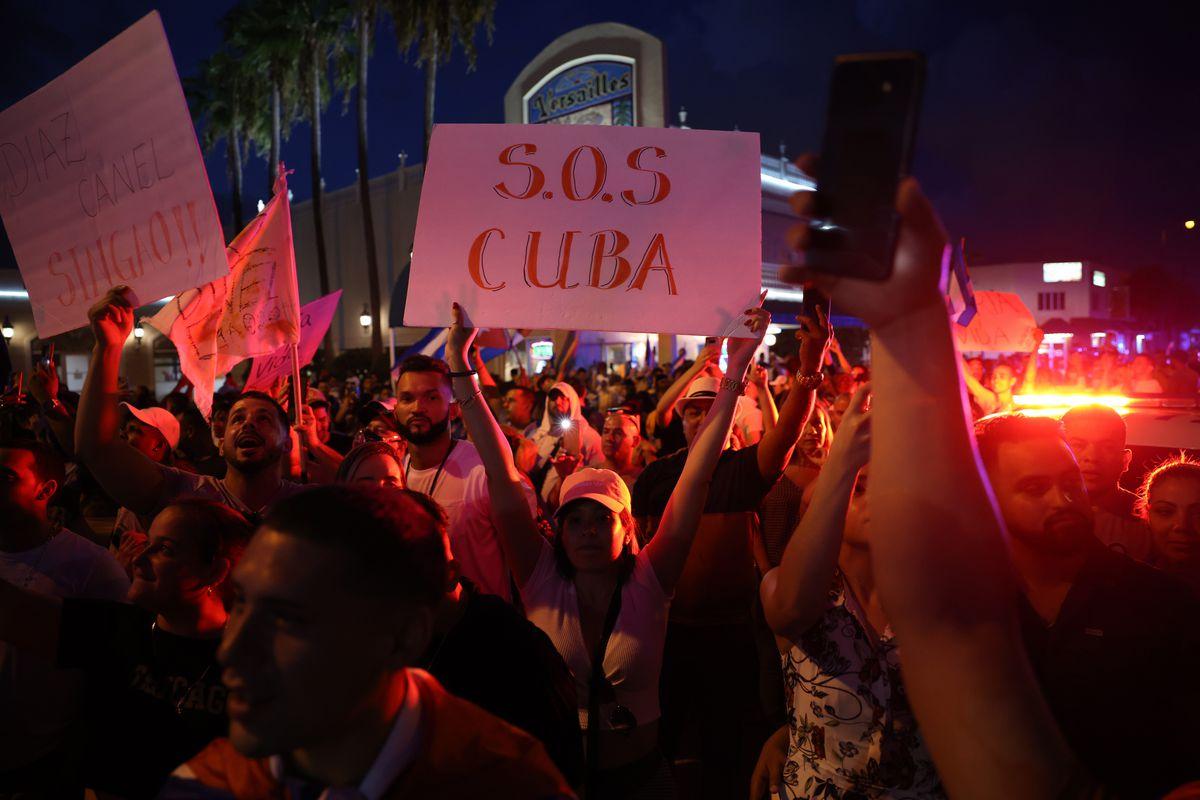 Cuban protest in Miami