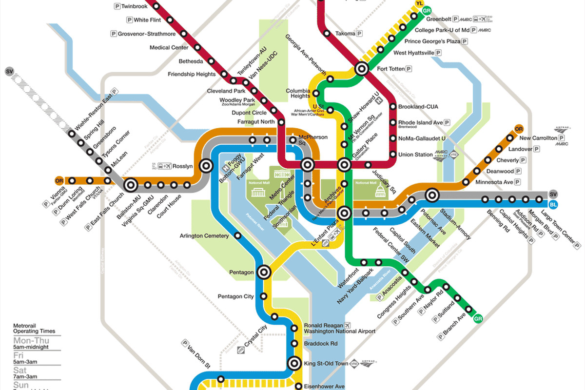Washington Dc Subway Map