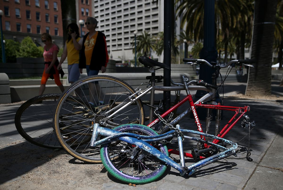 San Francisco's bait bike program launched after a spike in bicycle thefts.
