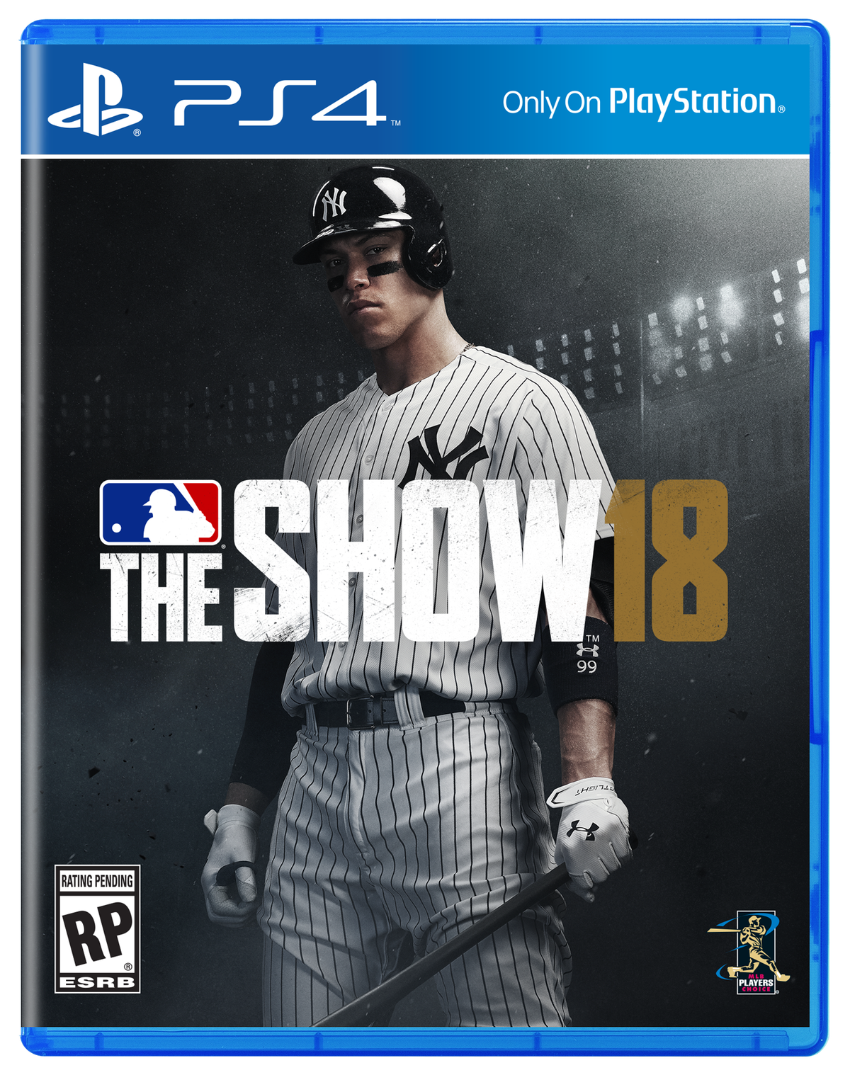 MLB The Show 18 box art with Aaron Judge