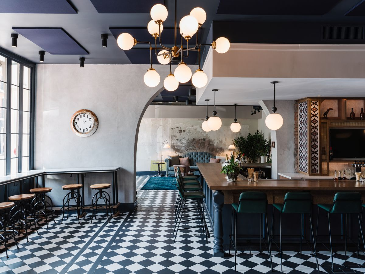 The interior of Couvant at the Eliza Jane Hotel