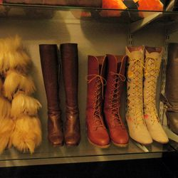 Who will be the proud owner of those insane '70s goat hair boots?