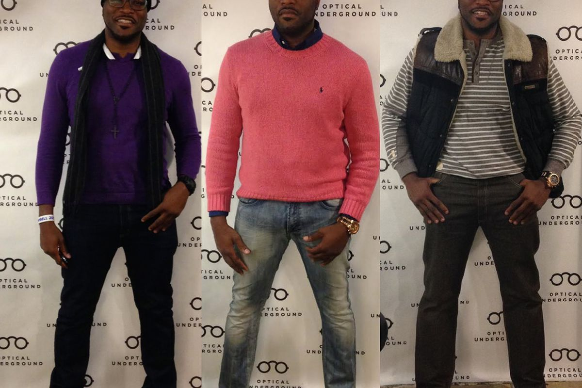 """A selection of Michael Campbell's outfit of the day photos. Images via <a href=""""https://www.facebook.com/opticalunderground"""">Facebook</a>."""