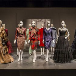 A collection of designs worn by First Ladies Nancy Reagan, Hillary Clinton and Laura Bush.