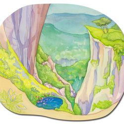 The cliffs artwork from the expansion Flight matches the previous design and look of the game.