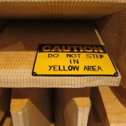 Do not step in yellow area