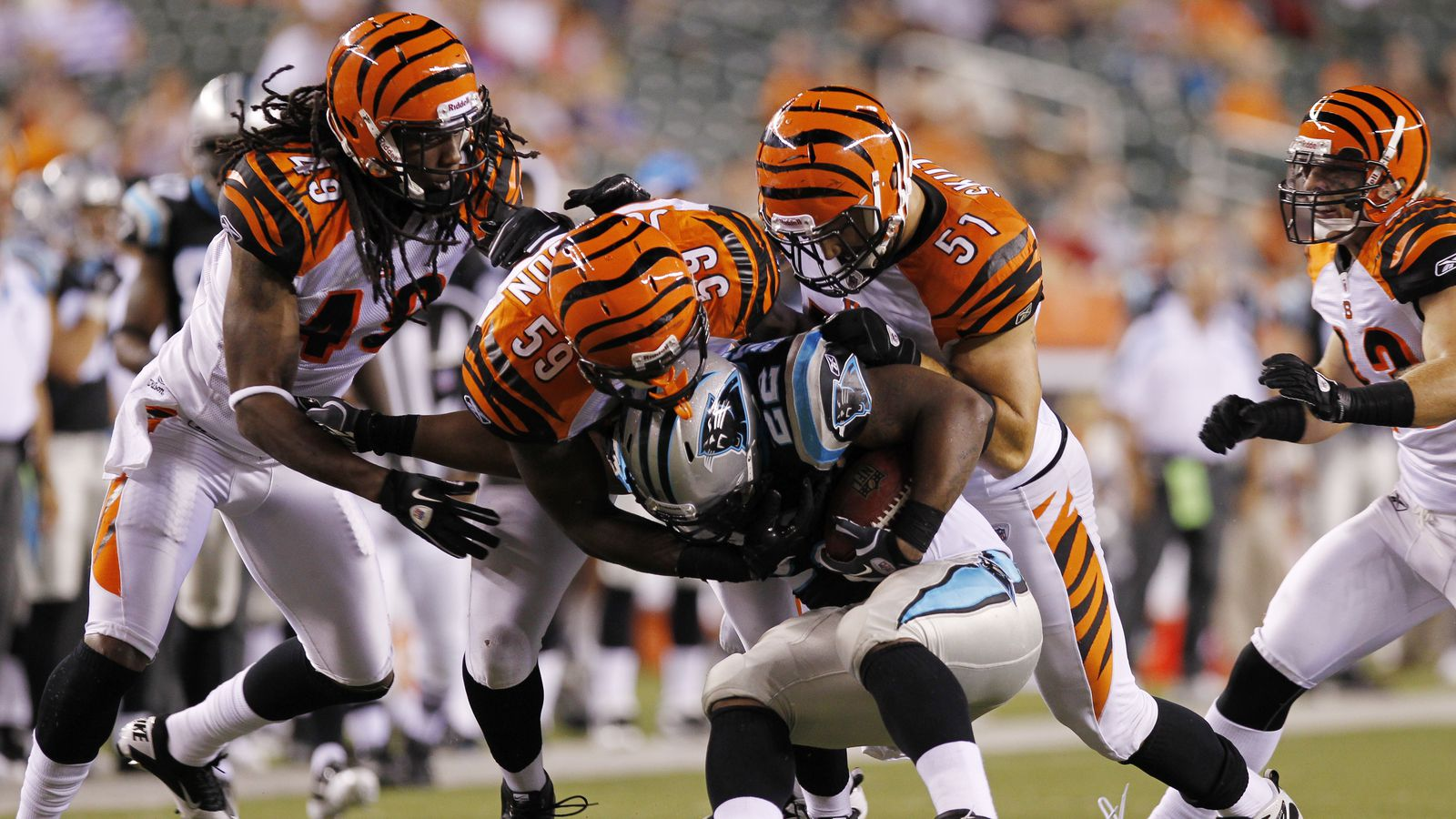 Cincinnati Bengals vs Carolina Panthers on Sep 26 2010 Watch video of the game buy tickets get stats amp depth charts game highlights analysis recap and