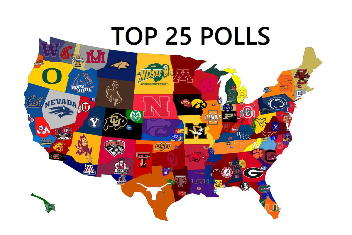 College Football Top 25 Ap Poll And Sec Power Rankings 2018 A Sea