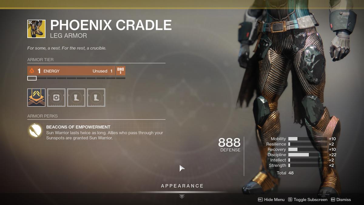 Phoenix Cradle Destiny 2