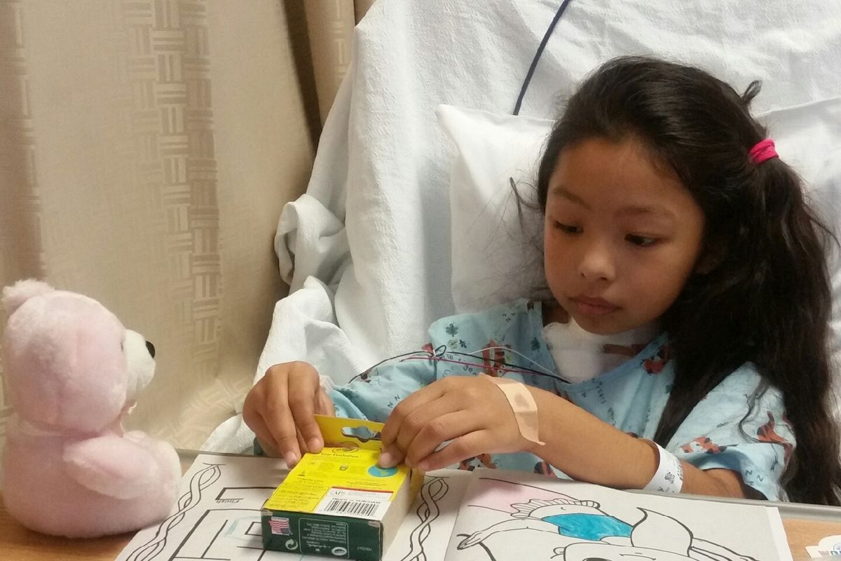 Gisselle Zamago, 7, is recovering after being shot twice while trick-or-treating in Little Village on Halloween last week.