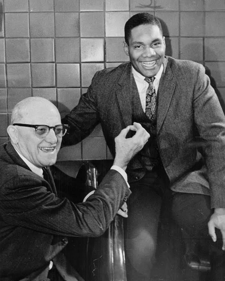 Chicago Bears owner-coach George Halas with Bob Pickens. | Sun-Times files