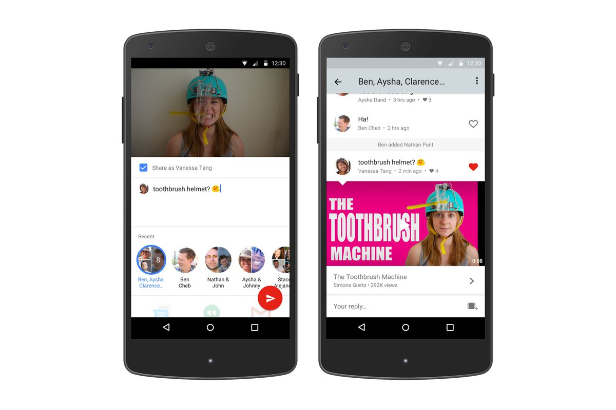 Youtube Built A Messaging Feature Into Its Mobile App The Verge Circuit Breaker Based On Android While