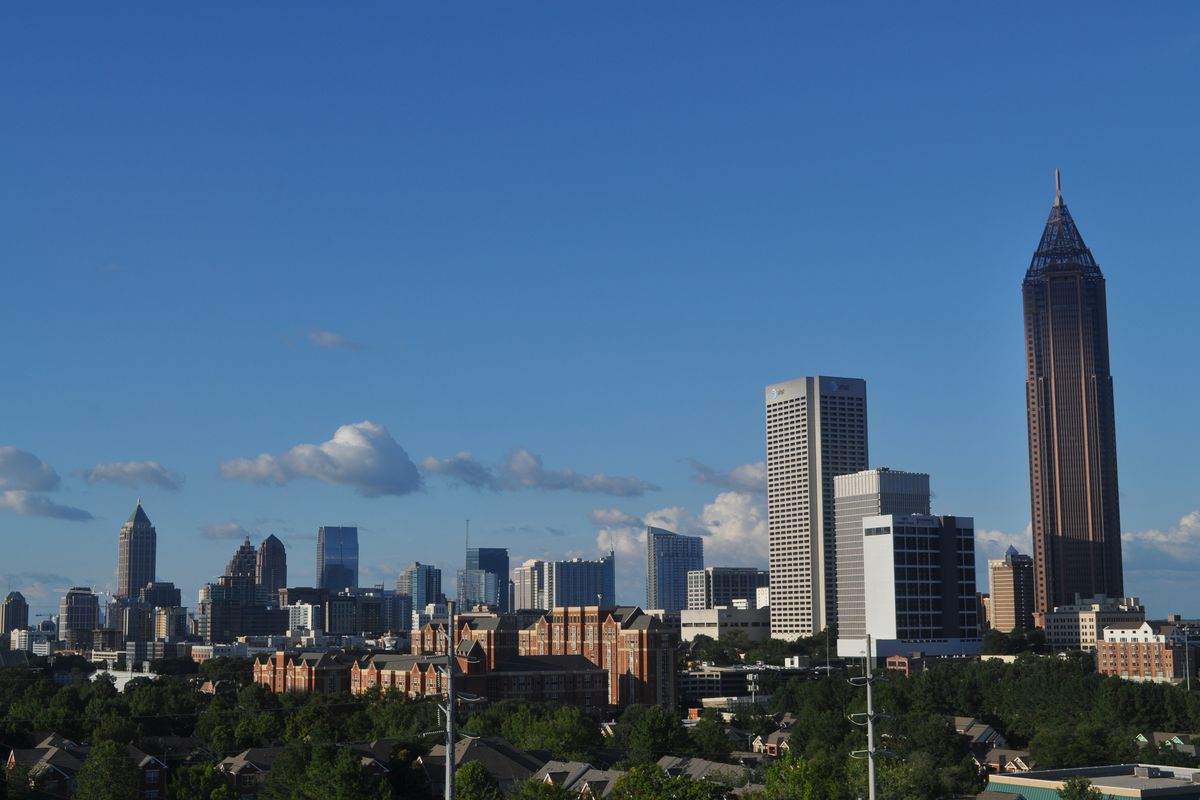 Skyline of Midtown from the south.