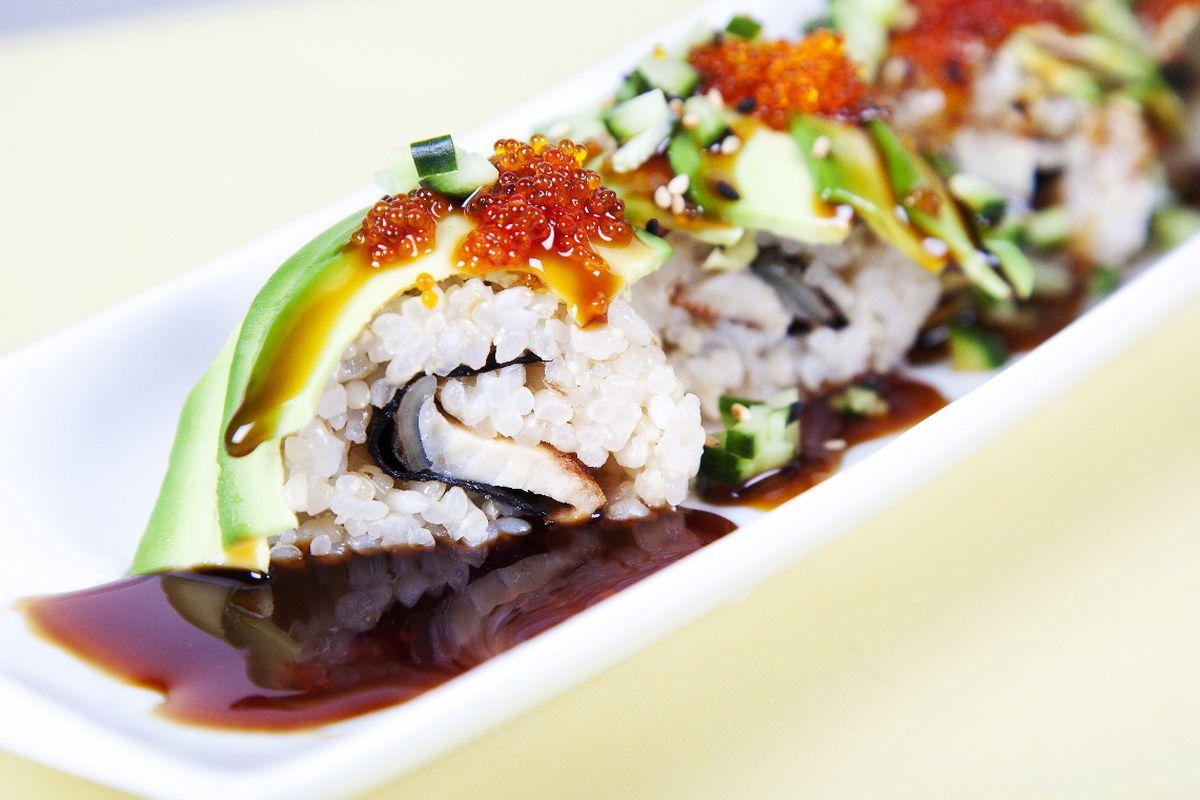 Gaba Sushi's Hungry Caterpillar roll