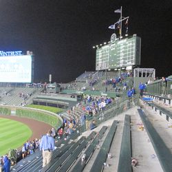 10:09 p.m. The bleachers after the end of the game -