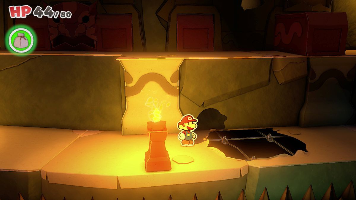Paper Mario: The Origami King guide – Earth Vellumental Temple collectibles locations