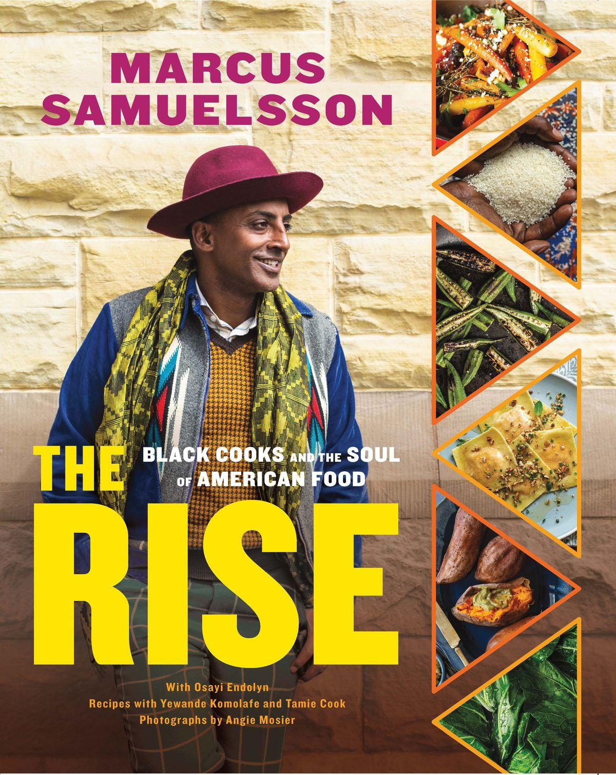 Marcus Samuelsson en couverture du livre de recettes Rise