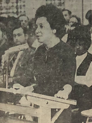 Maxine Smith, a Memphis school board member and NAACP leader speaks in favor of busing in 1971.